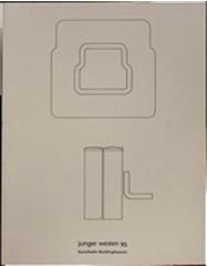 """Junge Westen 95""-Skulptur / 1995 /Hrsg.:Ferdinand Ullrich, Kunsthalle Recklinghausen / ISBN 3-929040-24-7"