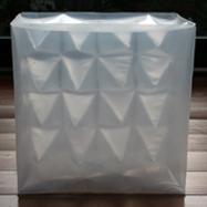 """""""Ohne Titel""""/1999/PVC Folie, geschweißt/40x40x15 cm/12 er Auflage"""