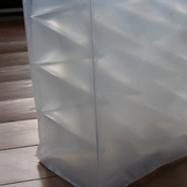"""""""Ohne Titel"""",1999, PVC Folie, geschweißt, B:40cm T:15cm H:40, 12 er Auflage, Detail"""
