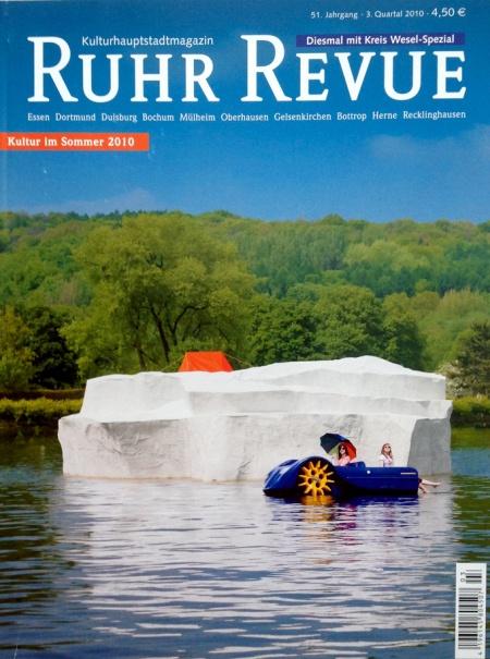 """Ruhr Revue"" Kulturhauptstadtmagasin, 2010, Artikel: ""Sehensucht Raum"", Danuta Karstens dritte Dimension, H: Dr Dagmar Gaßdorf, Text Martina Biderbeck, Verlag: Essener Revue Verlagsgesellschaft mbH"